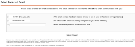 Updating Email Address