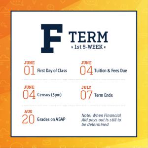 F Term - First 5-Week