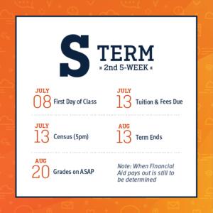 S Term - Second 5-Week